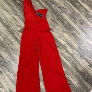 Red Petite Jumpsuit